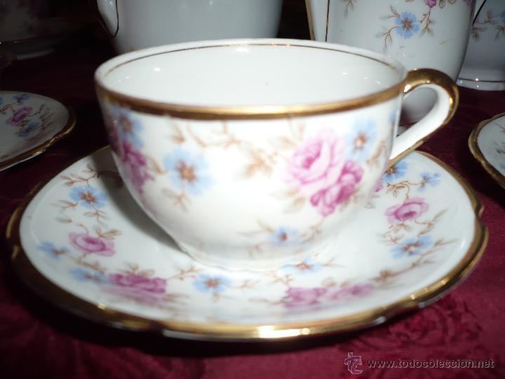 Antigüedades: Juego de Café de Porcelana de Santa Clara - Foto 25 - 40595993