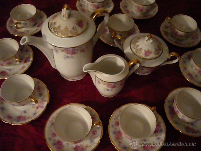 Antigüedades: Juego de Café de Porcelana de Santa Clara - Foto 26 - 40595993