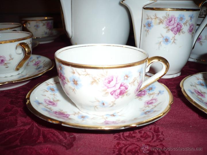 Antigüedades: Juego de Café de Porcelana de Santa Clara - Foto 27 - 40595993