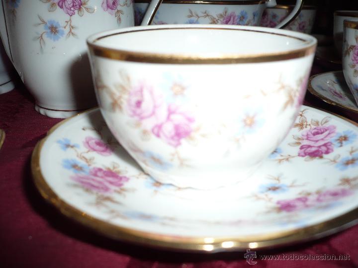 Antigüedades: Juego de Café de Porcelana de Santa Clara - Foto 28 - 40595993