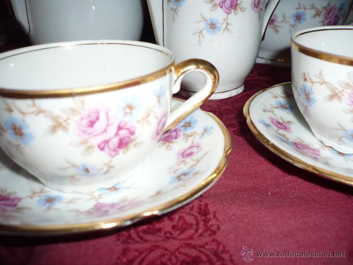 Antigüedades: Juego de Café de Porcelana de Santa Clara - Foto 29 - 40595993