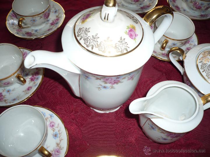 Antigüedades: Juego de Café de Porcelana de Santa Clara - Foto 30 - 40595993