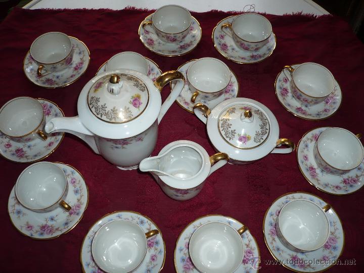 Antigüedades: Juego de Café de Porcelana de Santa Clara - Foto 31 - 40595993