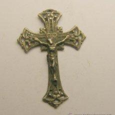 Antigüedades: MEDALLA CRUZ RELIGIOSA DE PLATA.. Lote 40605982