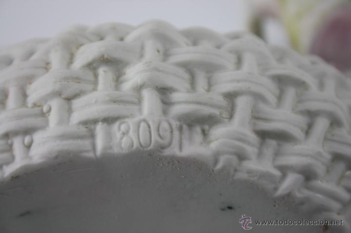 Antigüedades: CESTITA CON NIÑA EN BISCUIT DEL SIGLO XIX - NUMERADA 809 - Foto 11 - 40607931