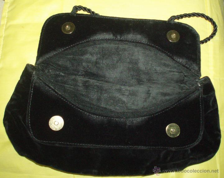 Antigüedades: bolso antiguo de terciopelo - Foto 2 - 139324430