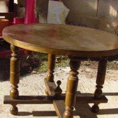 Antigüedades: MESITA REDONDA AUXILIAR. Lote 40622267