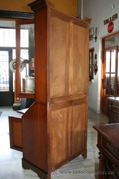 Antigüedades: VITRINA / BIBLIOTECA CON SECRETER EN CEREZO REF.5579 - Foto 8 - 40627926