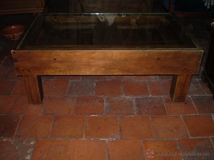 MESA REHECHA DE PINO (Antigüedades - Muebles Antiguos - Mesas Antiguas)