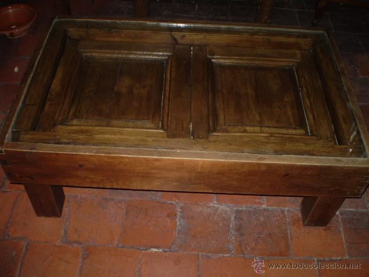 Antigüedades: MESA REHECHA DE PINO - Foto 2 - 40632900