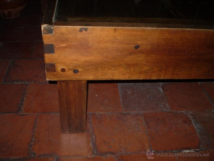 Antigüedades: MESA REHECHA DE PINO - Foto 3 - 40632900