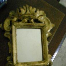 Antigüedades: PEQUEÑA CORNUCOPIA DE TALLA Y PAN DE ORO ANTIGUA. Lote 40641067