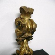 Antigüedades: REMATE DE RETABLO S XVIII MADERA Y PAN DE ORO. Lote 40642994
