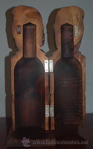 Antigüedades: Botellero de madera de boj, siglo XX - Foto 2 - 40643169