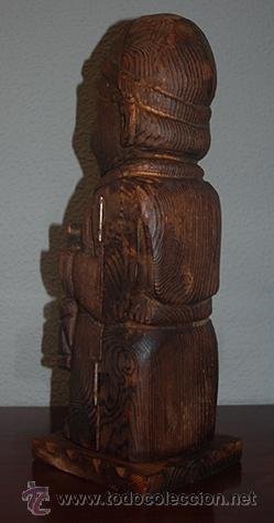 Antigüedades: Botellero de madera de boj, siglo XX - Foto 3 - 40643169