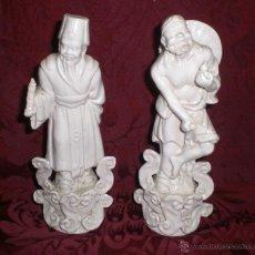 Antigüedades: BONITA PAREJA DE FIGURAS DE PORCELANA CHINA. NUMERADAS.. Lote 40643638