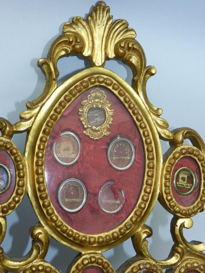 Antigüedades: EXCEPCIONAL RELICARIO COMPUESTO POR UN MARCO DE 11 ESFERAS OVALADAS CON 18 RELICARIOS EN SU INTERIOR - Foto 2 - 40644769