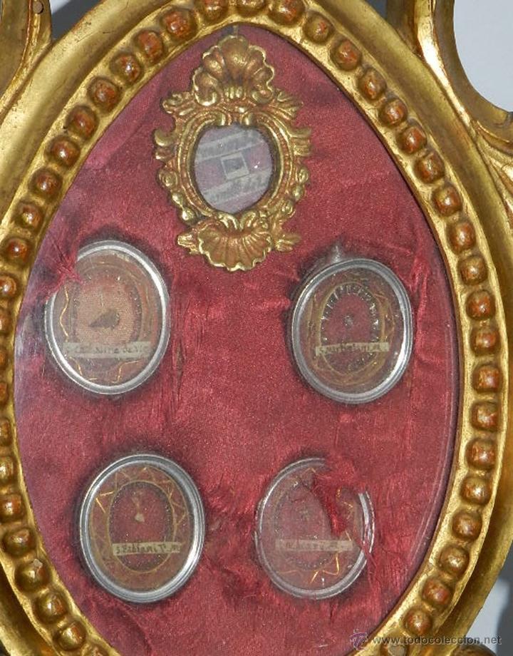 Antigüedades: EXCEPCIONAL RELICARIO COMPUESTO POR UN MARCO DE 11 ESFERAS OVALADAS CON 18 RELICARIOS EN SU INTERIOR - Foto 3 - 40644769