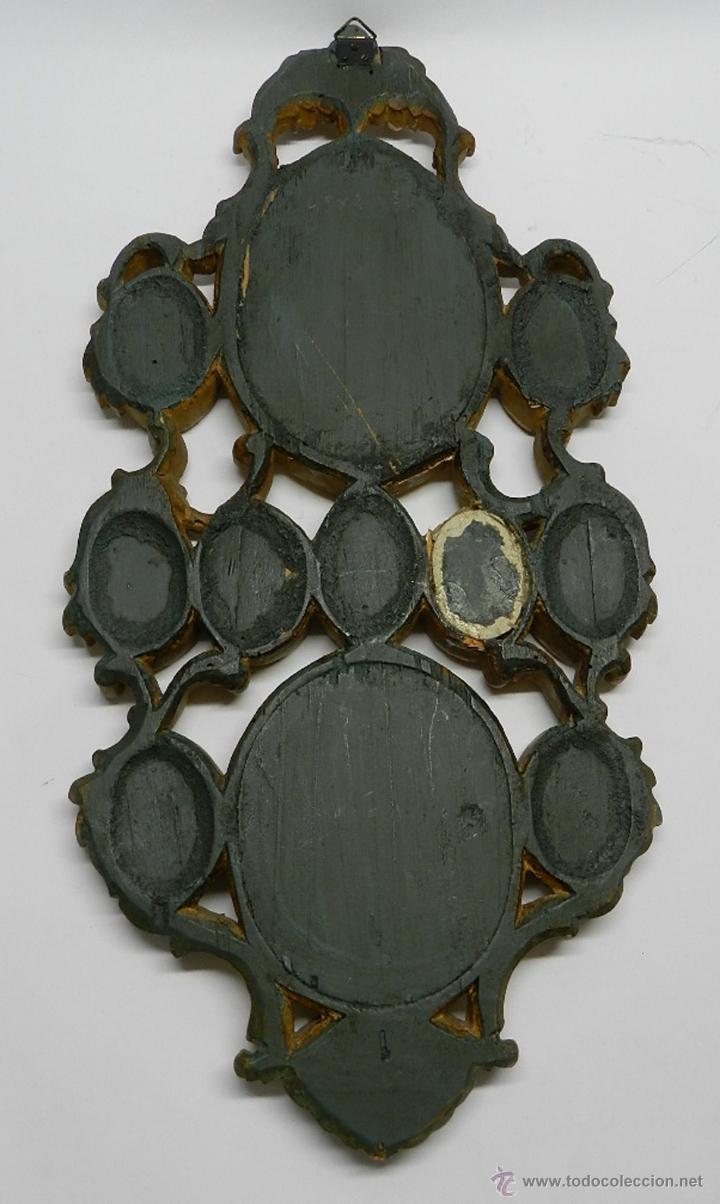 Antigüedades: EXCEPCIONAL RELICARIO COMPUESTO POR UN MARCO DE 11 ESFERAS OVALADAS CON 18 RELICARIOS EN SU INTERIOR - Foto 12 - 40644769