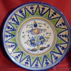 Antigüedades: ESPECTACULAR PLATO DE CERAMICA-PUENTE DEL ARZOBISPO-TOLEDO-. Lote 40652676