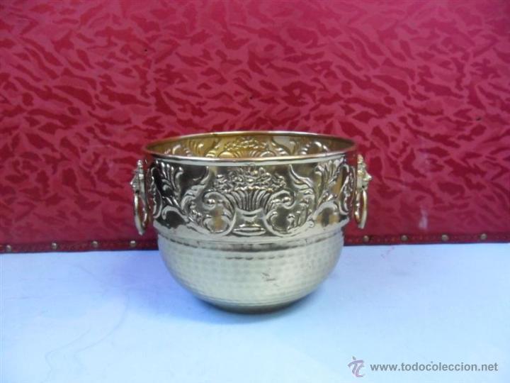 MACETERO DE METAL (Antigüedades - Hogar y Decoración - Maceteros Antiguos)