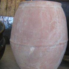 Antigüedades: TINAJA ARAGONESA LISA DE MEDIADOS SIGLO XIX ALQUECERA - GRANDE MEDIDA 76 CM. BOCA 38 CM.. Lote 40664025