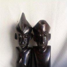 Oggetti Antichi: 2 TALLAS AFRICANA EN EBANO. Lote 50711474