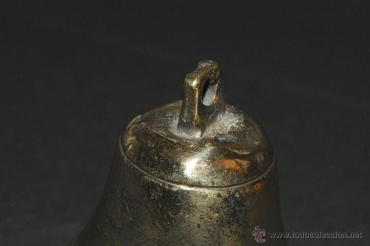 Antigüedades: CAMPANA EN BRONCE CON BADAJO - Foto 2 - 40672270