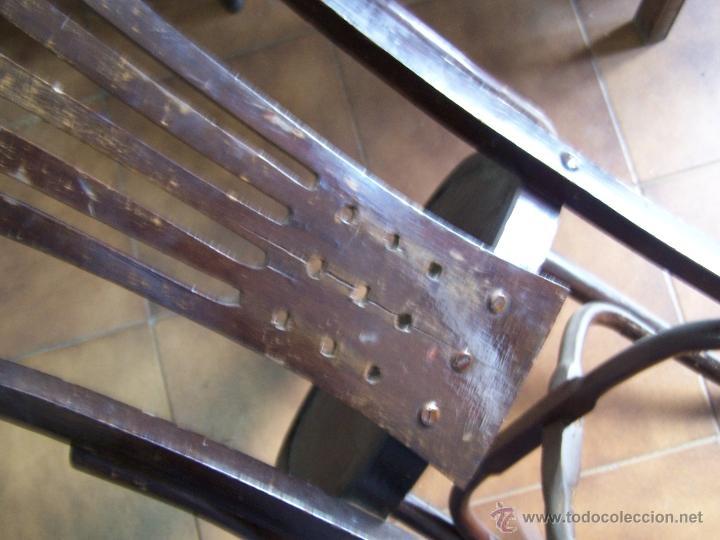 Antigüedades: Juego de 6 sillas muy antiguas de barberia o cafeteria para restaurar - Foto 17 - 40673710