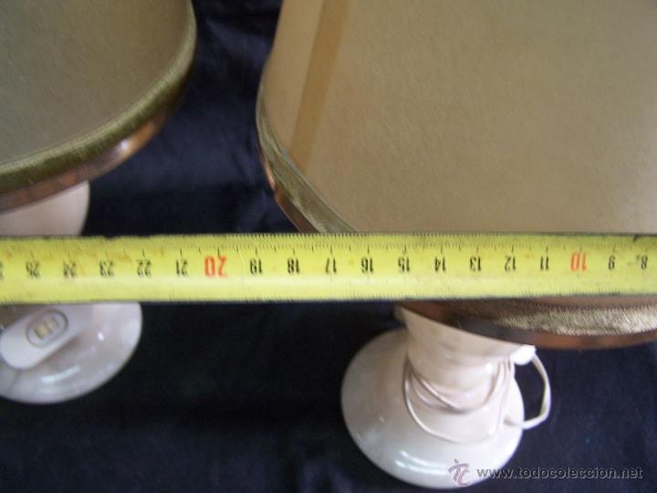 Antigüedades: Dos lamparas antiguas de mesa, creo de alabastro, todo original - Foto 5 - 40673864