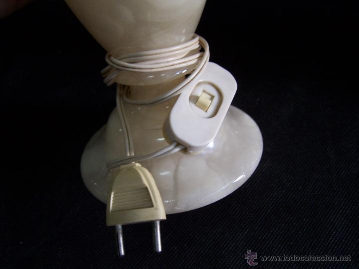 Antigüedades: Dos lamparas antiguas de mesa, creo de alabastro, todo original - Foto 13 - 40673864