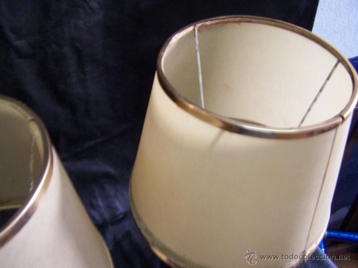 Antigüedades: Dos lamparas antiguas de mesa, creo de alabastro, todo original - Foto 19 - 40673864