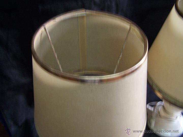 Antigüedades: Dos lamparas antiguas de mesa, creo de alabastro, todo original - Foto 20 - 40673864