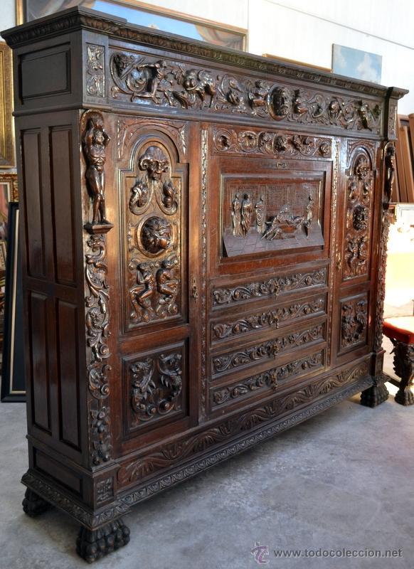 Libreria o papelera tipo bargue o estilo renaci comprar - Muebles castellanos antiguos ...