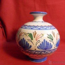 Antigüedades: JARRON DE CERAMICA, FIRMADO POR CASAS, PUENTE ARZOBISPO. TOLEDO.. Lote 40687023
