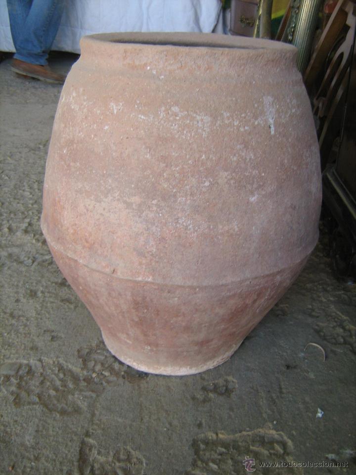 PEQUEÑA TINAJA DE BARRO MEDIDA 50 X 30 CM. (Antigüedades - Técnicas - Rústicas - Utensilios del Hogar)