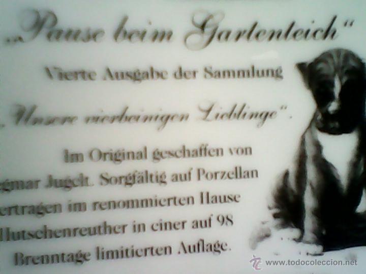 Antigüedades: PRECIOSO PLATO DE COLECCIÓN ESTA SELLADO N.1285 A.Pause bein Jartenteich.MAD GERMANY.1997, - Foto 4 - 40688761