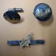 Antigüedades: GEMELOS DE PLATA ANTIGUO. Lote 40706417