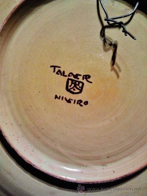 Antigüedades: TALAVERA.Pareja de platos de cerámica, marcas al dorso de Niveiro. Serie El Quijote. - Foto 4 - 40708551