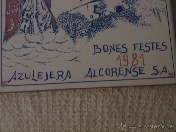Antigüedades: AZULEJO ALCORA. SANTA QUITERIA 1981. ALMAZORA. 15 X 15 CM. VER FOTOS. - Foto 5 - 40711661