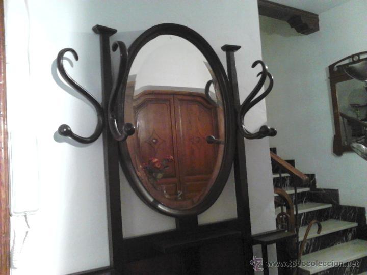 ANTIGUO PARAGÜERO MUEBLE RECIBIDOR, PARAGÜERO MUEB (Antigüedades   Muebles  Antiguos   Auxiliares