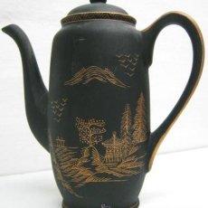 Antigüedades: CAFETERA KUTANI CHINA - ORO NEGRO. Lote 40716681