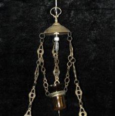 Antigüedades: LAMPARA VOTIVA REALIZADA EN BRONCE DE PRINCIPIOS DEL SIGLO XIX. Lote 40717857
