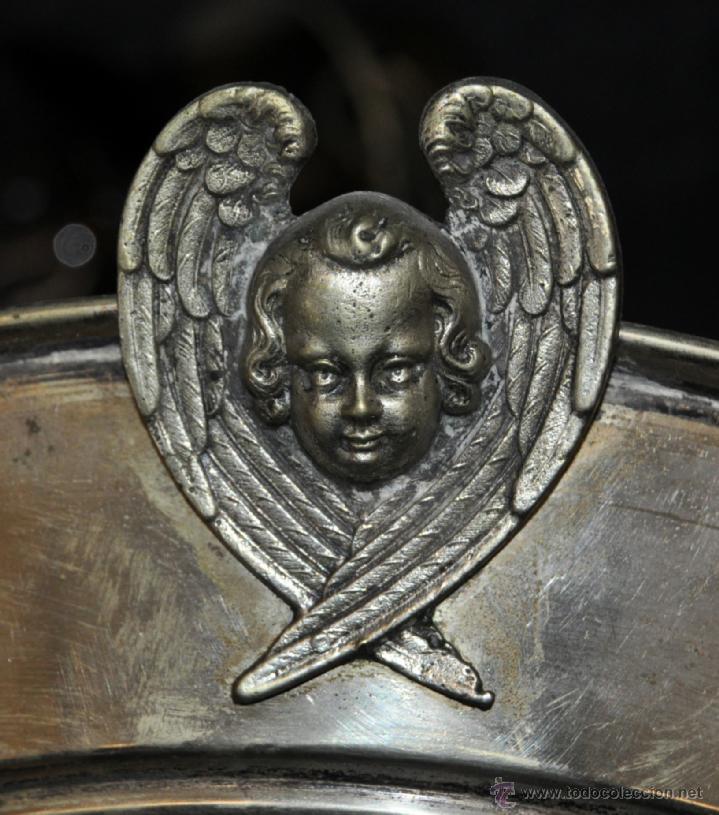 Antigüedades: LAMPARA VOTIVA REALIZADA EN BRONCE DE PRINCIPIOS DEL SIGLO XIX - Foto 2 - 40717857