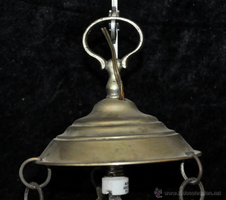 Antigüedades: LAMPARA VOTIVA REALIZADA EN BRONCE DE PRINCIPIOS DEL SIGLO XIX - Foto 12 - 40717857