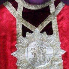 Antigüedades: CASULLA ROJA SIGLO XIX. Lote 40724403