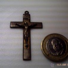 Antigüedades: PRECIOSA CRUZ DE PLATA. ALTURA 45 MM.. Lote 98098258