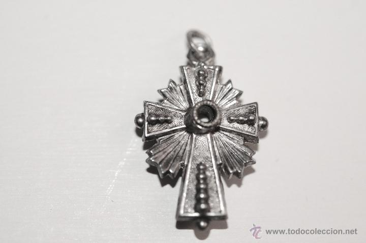 CRUZ EN PLATA (Antigüedades - Religiosas - Cruces Antiguas)