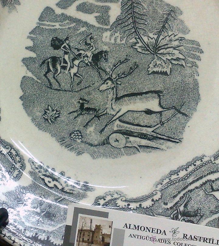 Antigüedades: SIGLO XIX-XX.- TRIÓ DE PLATOS EN LOZA, CON DECORACIÓN CINEGETICA DE ESTILO INGLES. - Foto 7 - 40757428