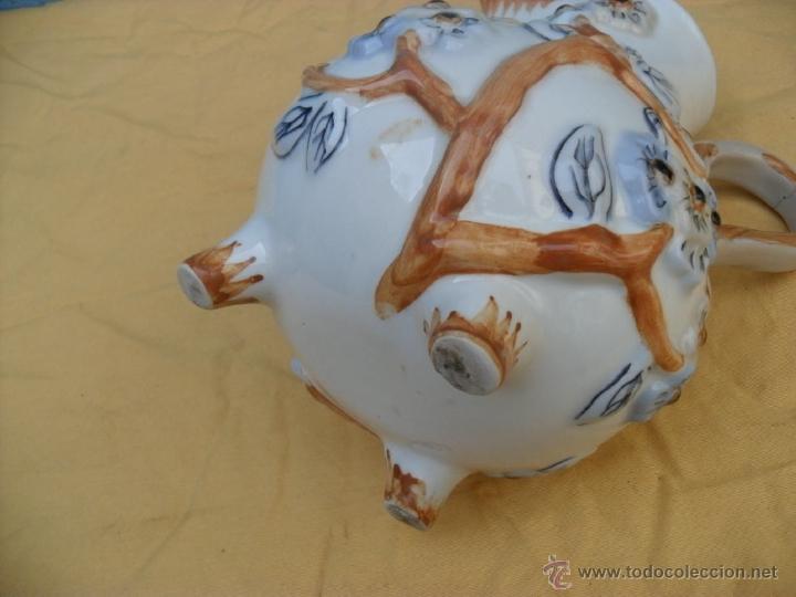 Antigüedades: antigua jarra,ceramica, Manises? - Foto 3 - 40771383